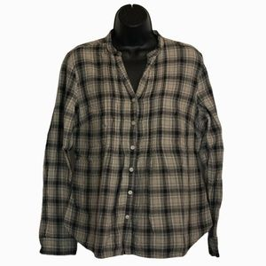Women's Converse One Stare Plaid Button Down Shirt